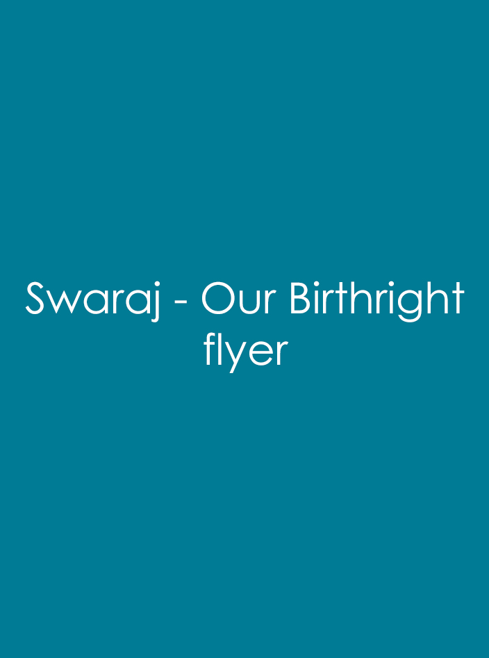 Swaraj – Our Birthright
